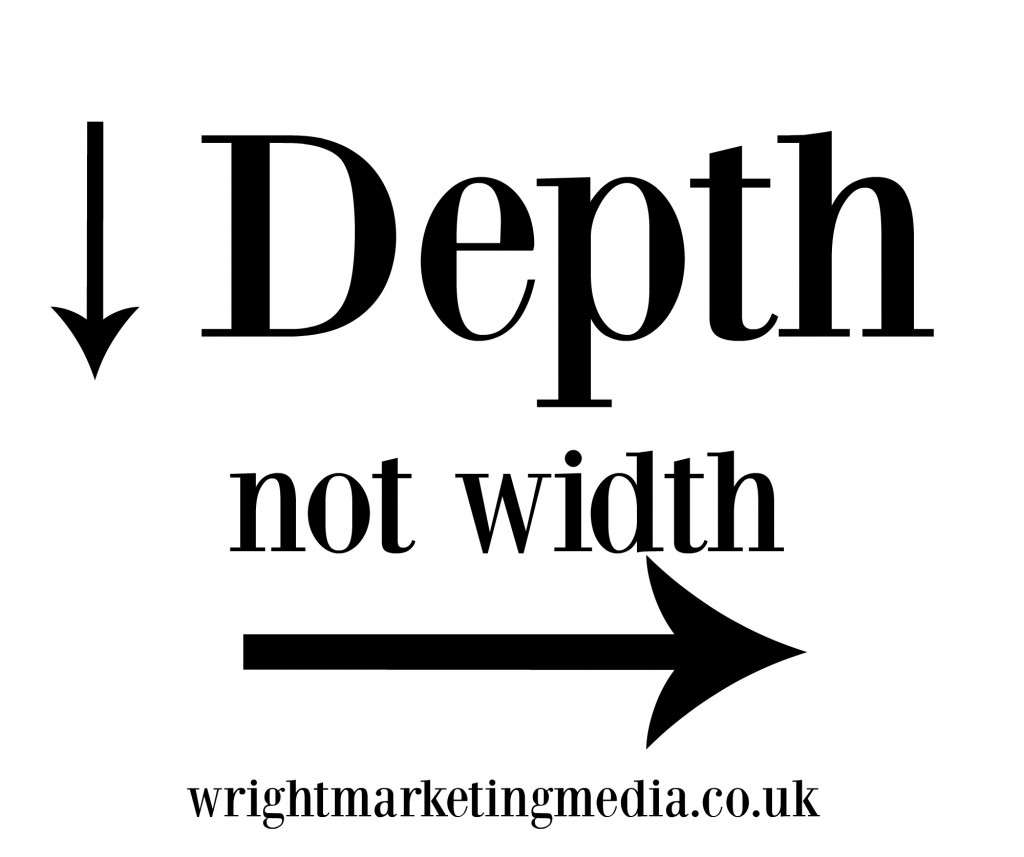 Depth not width logo WMM